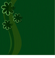 green background vector image