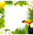 Green Frame With Tropical Elements vector image vector image