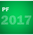 green happy new year pf 2017 from little vector image