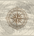 grunge background with compass rose vector image vector image