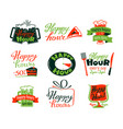 happy hour icons set discount special offer vector image vector image
