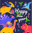 happy new year - flat design style vector image