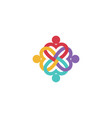 health care people group logo vector image vector image