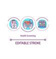 health screening concept icon vector image vector image