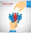 human resource and recruitment vector image vector image