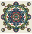 Indian paisley hand drawn mandala vector image vector image