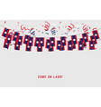 laos garland flag with confetti vector image vector image