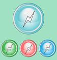 Lightning Icons Set Line Art Style vector image