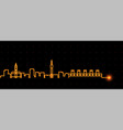 lille light streak skyline profile vector image vector image