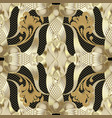 luxury ornate gold 3d seamless pattern floral vector image