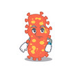 mascot design bacteroides showing waiting gesture vector image vector image