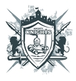 Mighty Knights Print vector image vector image