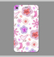 mobile phone case design flower silhouettes vector image vector image
