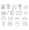 office and business line icons vector image vector image