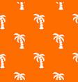 palm pattern orange vector image