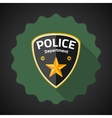 Police Badge Flat icon background vector image vector image