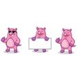 Purple Pig Mascot happy vector image vector image