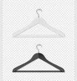 realistic clothes coat black and white vector image