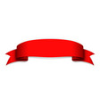 red ribbon banner satin blank design label vector image
