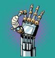 robot ok okay gesture hand broken bandaged finger vector image vector image