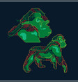 robotic gorilla vector image