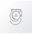 school bell icon line symbol premium quality vector image