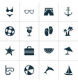 season icons set collection of star bead vector image