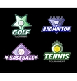 set colorful sports logos vector image