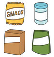 set snack vector image