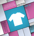 t-shirt icon sign Modern flat style for your vector image