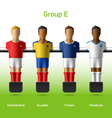 Table football foosball players vector image vector image