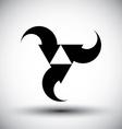 Three arrows loop conceptual icon special abstract vector image