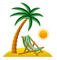 tropical resort icon vector image vector image