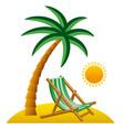 tropical resort icon vector image