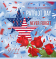 usa patriot day card vector image