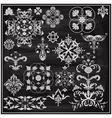 vintage floral chalk drawn design elements vector image vector image
