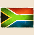 vintage south africa flag poster background vector image
