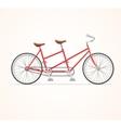 Vintage Tandem Bicycle vector image vector image