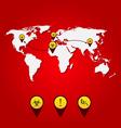 virus ebola outbreak world map spreading vector image