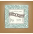 wedding card green vector image