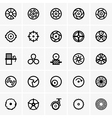 Wheel icons vector image vector image