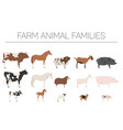 farm animall family collection cattle sheep pig vector image