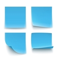 Papers stickers vector image