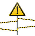 caution - danger warning sign safety a yellow vector image