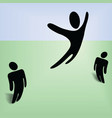flying person vector image