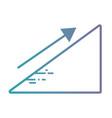 line statistics diagram with arrow growing vector image