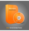 Bright realistic orange isolated DVD CD Blue-Ray vector image