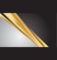 abstract gold line slash on grey dark blank space vector image