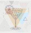 abstract polygonal tirangle cocktail margarita vector image vector image