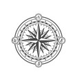 antique wind rose isolated on white background vector image vector image